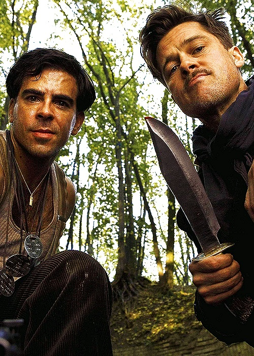 """Inglourious Basterds — I shouldn't even admit to liking this movie but I love the way the title's spelled. I'm not a Brad Pitt fan but liked how he said """"Nazz-zis."""" The final shoot-out was ridiculous, but they cast Rod Taylor to play Churchill and Christoph Waltz was fabulous and who doesn't like to see a Nazi villain get his in the end...?"""
