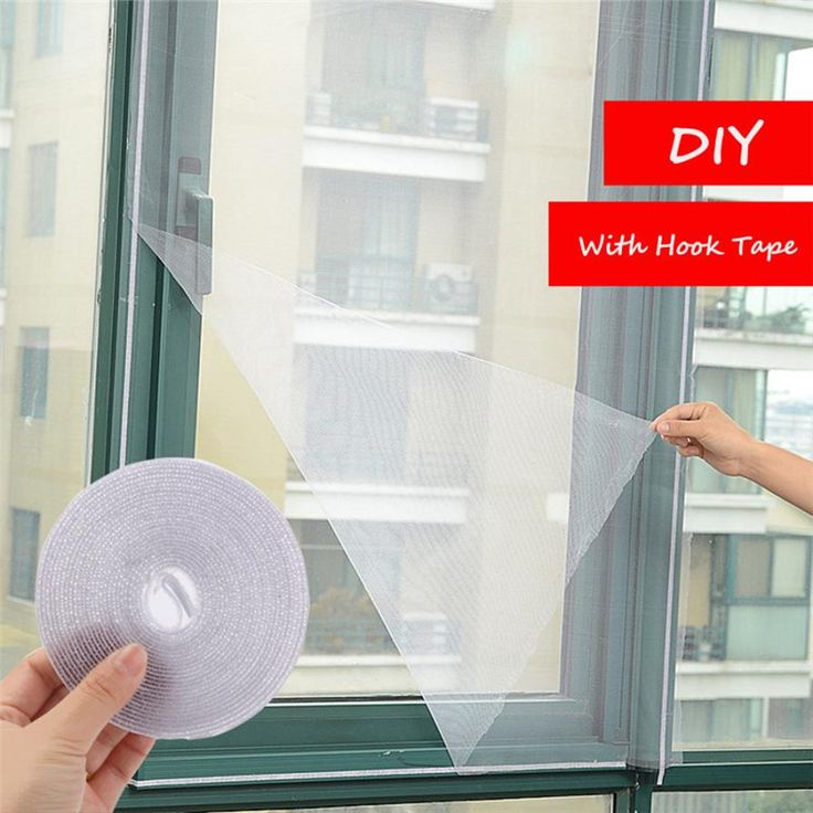 DIY Adhesive Anti-Mosquito Fly Bug Insect Curtain Mesh Window Screen Home summer mosquito protect screen net drop shipping