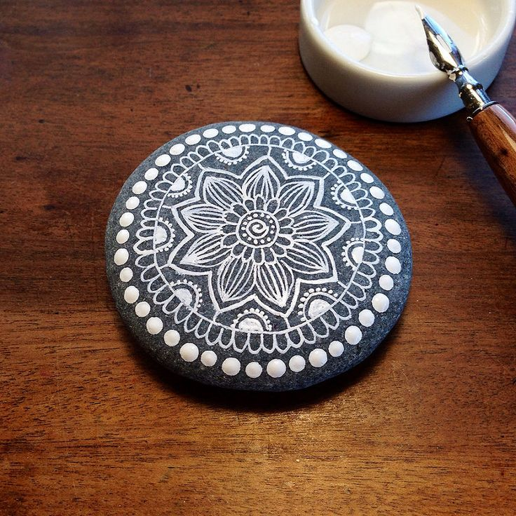 Mandala Painted Pebble | by MagaMerlina