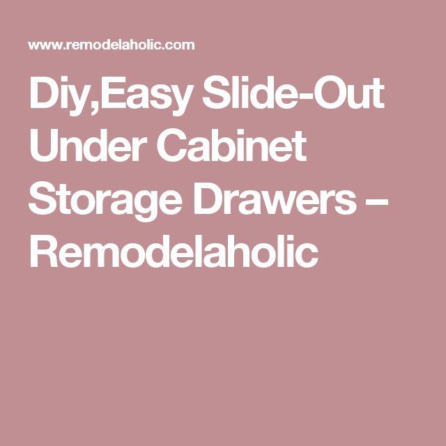 25 Best Ideas About Under Cabinet Storage On Pinterest