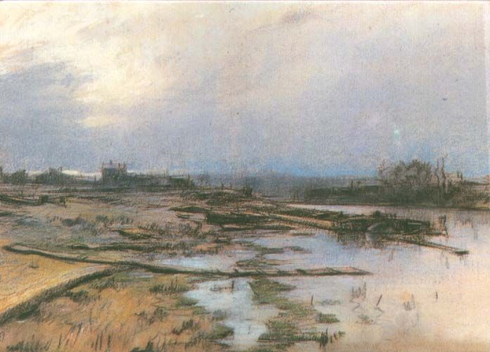 Stanisław Wyspiański - Landscape with river