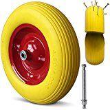 sparen25.info , sparen25.com#9: Schubkarrenrad Vollgummi PU 4.80/4.00-8 390 mm 200 kg + Achse - Reifen Ersatzradsparen25.de