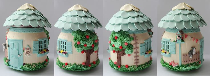 Amazing polymer clay house.