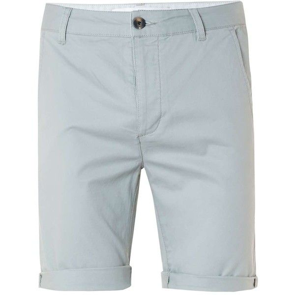 TOPMAN Light Green Stretch Skinny Chino Shorts ($29) ❤ liked on Polyvore featuring men's fashion, men's clothing, men's shorts, khaki, mens long shorts, mens chino shorts, mens long khaki shorts, mens stretch waist shorts and mens khaki shorts