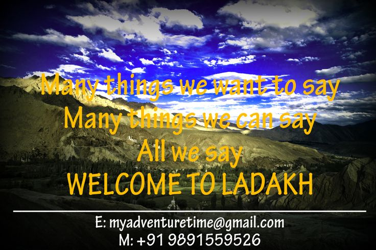 Welcome to LADAKH...the mesmerizing moonland