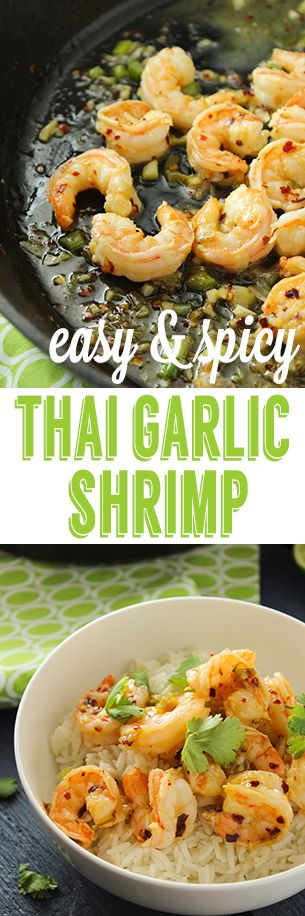 Easy Spicy Garlic Thai Shrimp