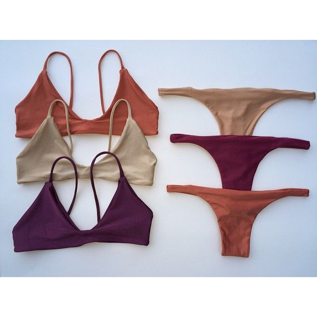 Lotus Swimwear New Limited Fall Colors Copper || Naked || Mauve x Maui Bralette || Our New Thin Sided Thong Bottom in Bare || Merlot & Copper✨ Available Now! (Also re-stocked our Black Maui Bralette) Louttus