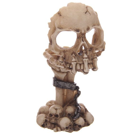 Skull and Claw Chained Gothic Tealight Holder by getgiftideas