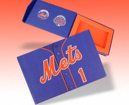 New York Mets Mini Ticket Box - a creative packaging solution produced by Cedar Packaging