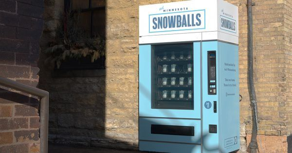 A Minneapolis Agency Created a Snowball Vending Machine for Super Bowl Attendees