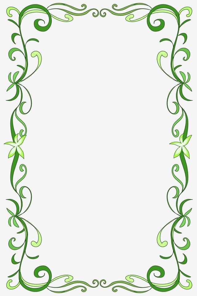 Beautiful Green Flower Vine Border Thin Flower Vine Cartoon Border Flower Vine Border Png Transparent Clipart Image And Psd File For Free Download In 2020 Flowering Vines Vine Border Green Flowers
