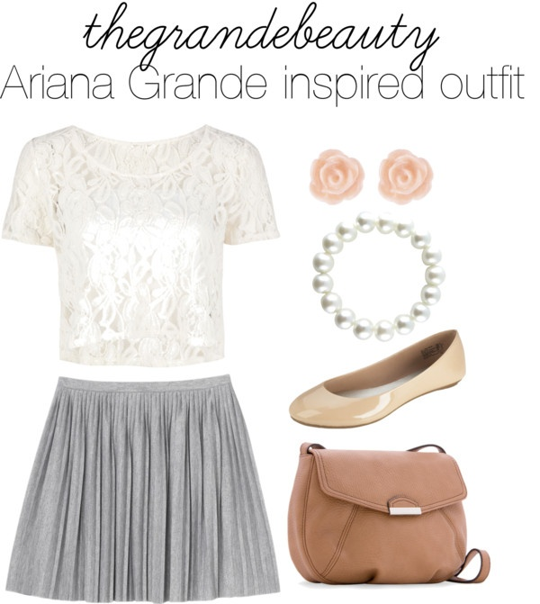 """""""Ariana Grande inspired outfit"""" by beautifulgurrl ❤ liked on Polyvore"""