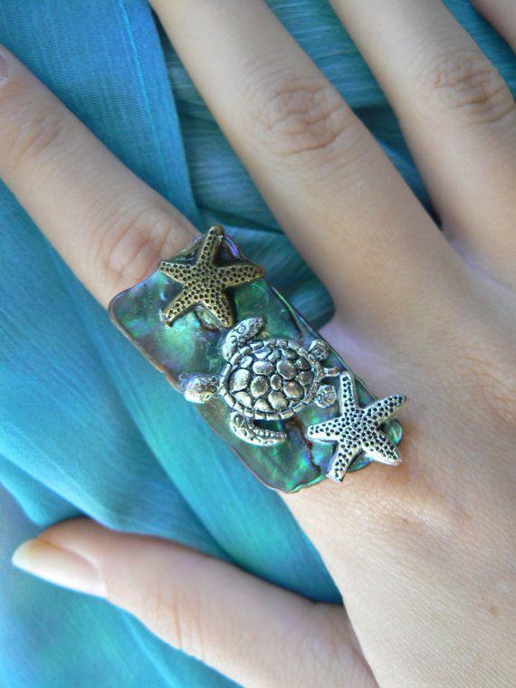 Meeresschildkröte Ring Anweisung Ring von gildedingypsy auf Etsy