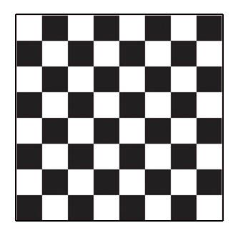"Trying to find the easiest way to paint a checkerboard ""endzone"" pattern on the cornhole boards."