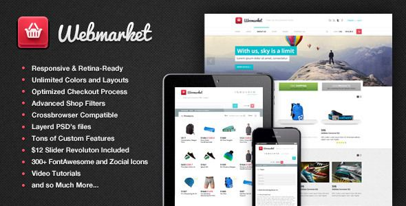 Webmarket - HTML Template for Online Shop - Shopping Retail