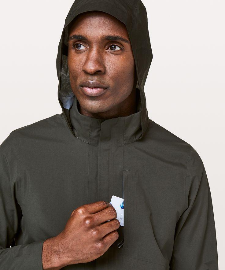 lululemon Men's Storm Field Jacket, Dark Olive, Size M
