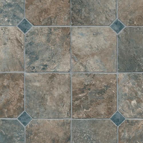 Lowes Ceramic Tile Flooring >> IVC Logic Sheet Vinyl Flooring Slate Mosaic 94 - 12' Wide ...
