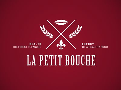 Logo concept designed for luxurious french healthy food take-away restaurant.