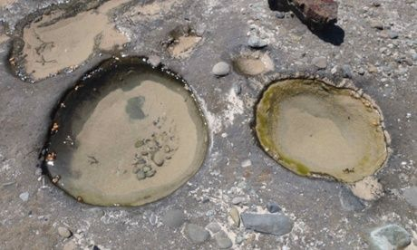 NSW south coast aboriginal history: sometimes a hot rock was dropped into natural sea holes to cook food.