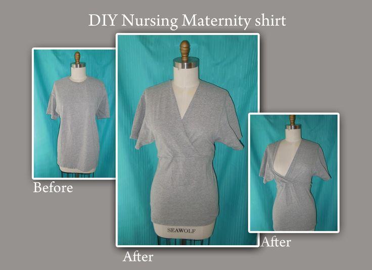 The Eighth Daughter: DIY maternity nursing shirt