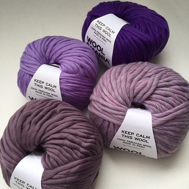 Битва цвета   Выбери своего фаворита   Голосуем за самый красивый цвет. #KeepCalmThisWool #WoolandMania Снизу вверх: Satin, Polar Light, Lavanda, Purple.