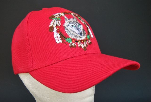RED HAT BALL BASEBALL CAP WILD WOLF ANIMAL FEATHERS NATIVE INDIAN PRIDE DREAM CATCHER #wolf #wolfcap #wolfhat #wolfbaseballcap #wolfbaseballhat #baseballcap #baseballhat #cap #hat