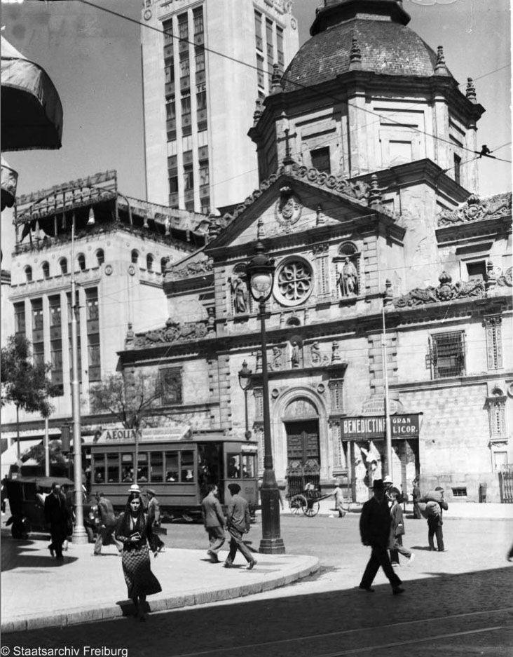 1932, Iglesia de las Calatravas, Gran Vía. Imágenes del viejo Madrid