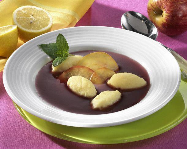 Fliederbeersuppe mit Grießnocken Rezept