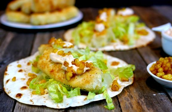 Wild Alaskan Halibut Fish Tacos - my uncles just brought me some fresh halibut from Alasaka. Fortuitous!