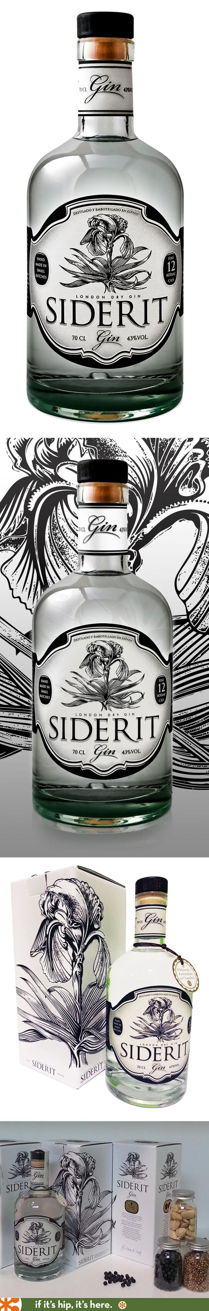 Siderit Gin has a very pretty bottle and carton design.