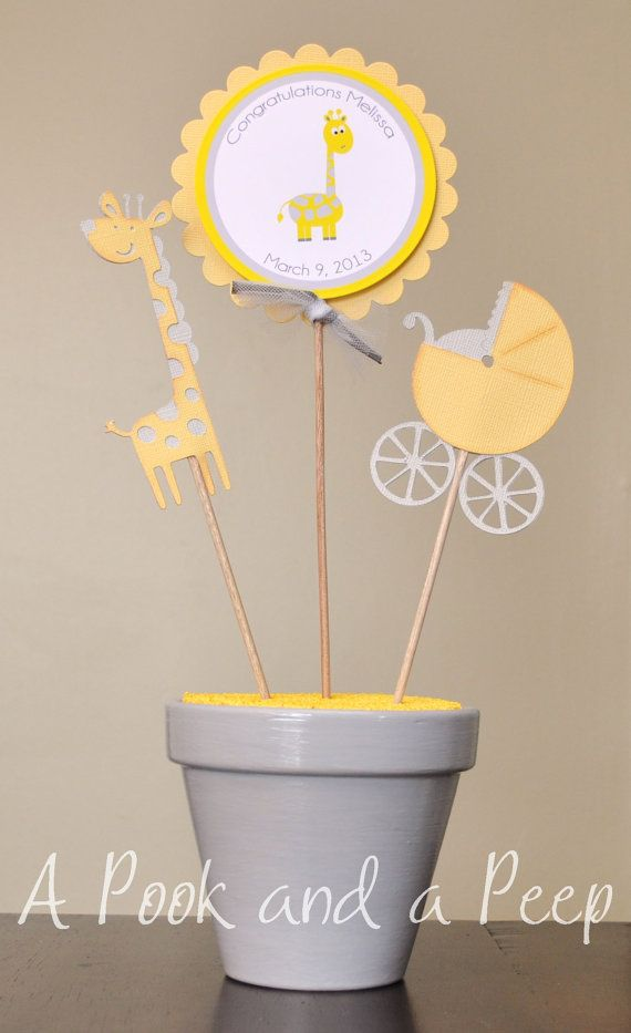 Hey, I found this really awesome Etsy listing at https://www.etsy.com/listing/157826634/yellow-gray-giraffe-baby-shower