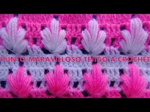 Punto maravilloso tejido a crochet # 4 para tejer mantitas para bebe - YouTube