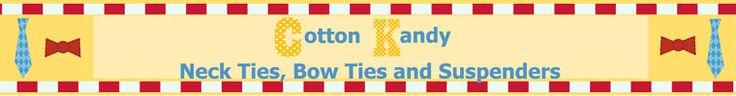 CottonKandyShop - children's bow ties and suspenders