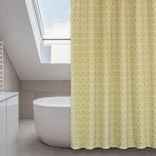 Metro Buttercup/ Mustard Yellow 14-piece Shower Curtain Set | Overstock.com Shopping - Great Deals on Shower Curtains