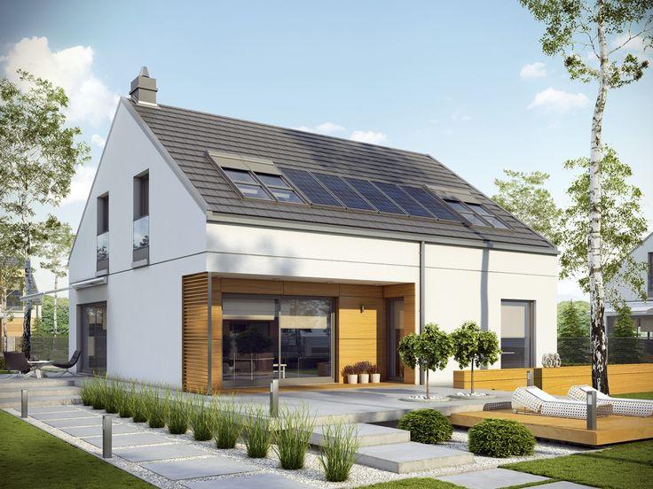 DOM.PL™ - Projekt domu AC E10 ENERGO PLUS CE - DOM AF6-60 - gotowy projekt domu