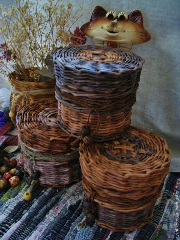 Купить Туеса - уют на кухне, милая вещица, подарок женщине, деревенский стиль, интерьер дома