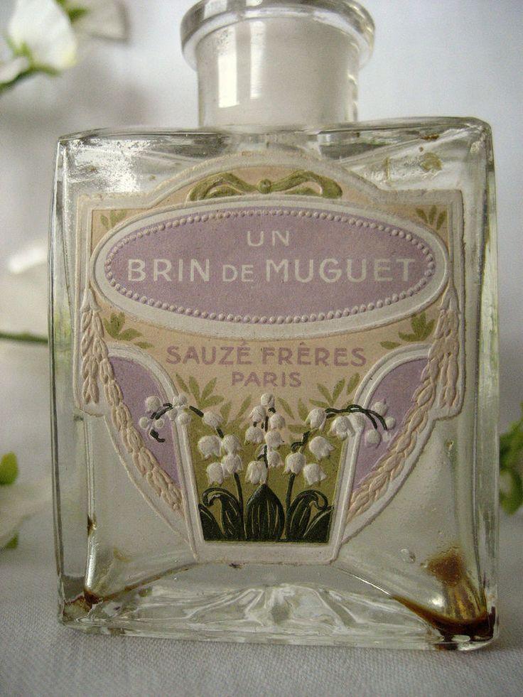 Vintage SAUZE FRERES Perfume UN BRIN DE MUGUET with BOX - Flacon de Parfum in   eBay