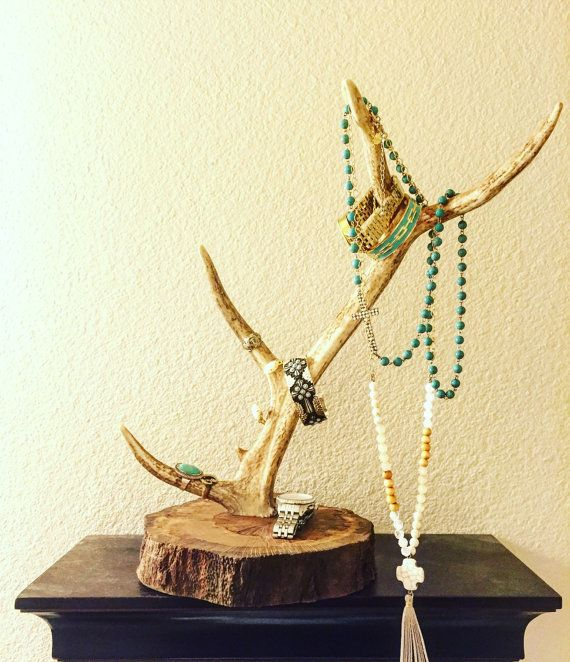 This jewelry holder is inspired by our original and best selling item, the antler jewelry holder. We started our shop selling a jewelry holder