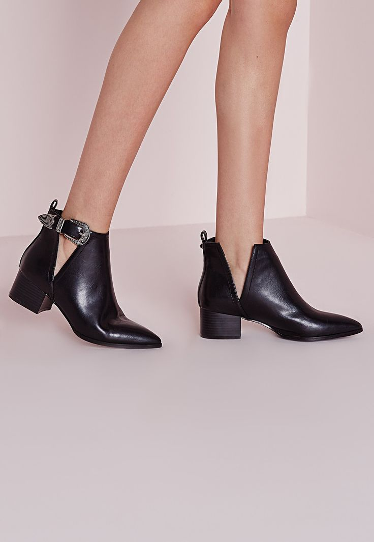 Missguided - Pointed Toe Ankle Boots Black