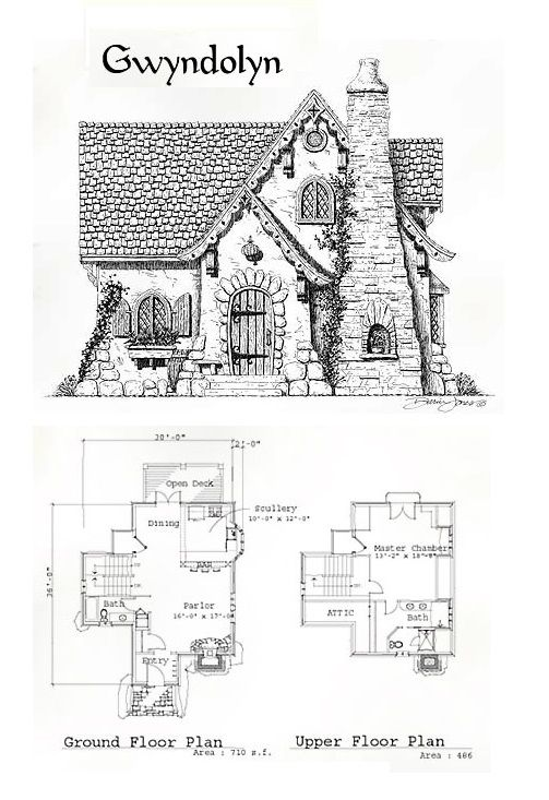 The gwyndolyn home plans pinterest cottages manor for Cottage layout design