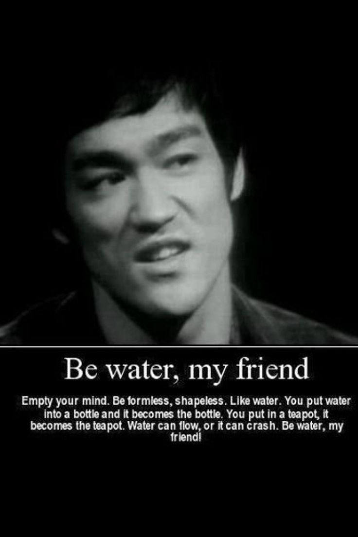 Be like water..Bruce lee's Quotes Poster 12x18 inch Be ...
