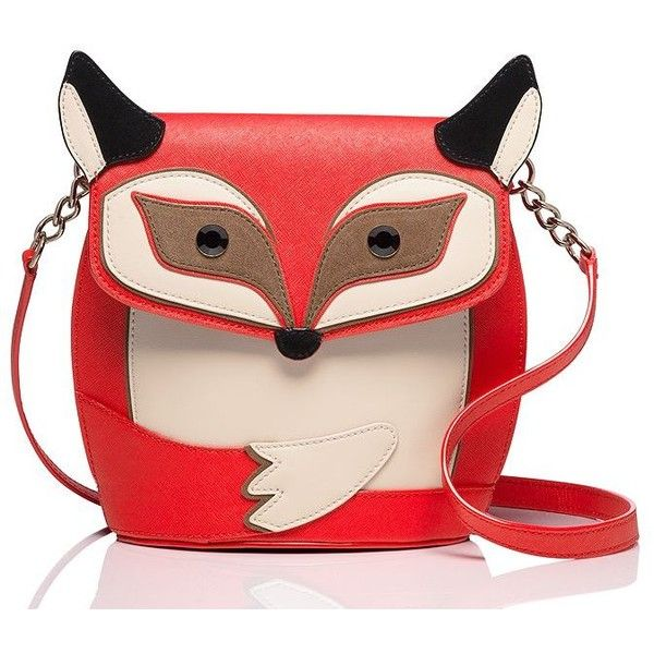 Kate Spade Blaze A Trail Fox Crossbody ($249) ❤ liked on Polyvore featuring bags, handbags, shoulder bags, cross body, kate spade purses, kate spade, kate spade crossbody and fox purse