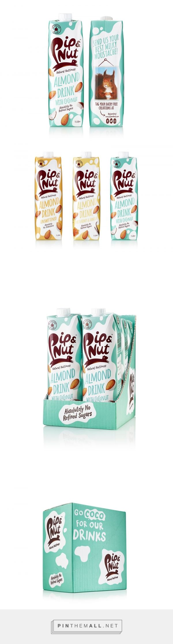 Pip & Nut Almond Drinks - Packaging of the World - Creative Package Design Gallery - http://www.packagingoftheworld.com/2017/11/pip-nut-almond-drinks.html