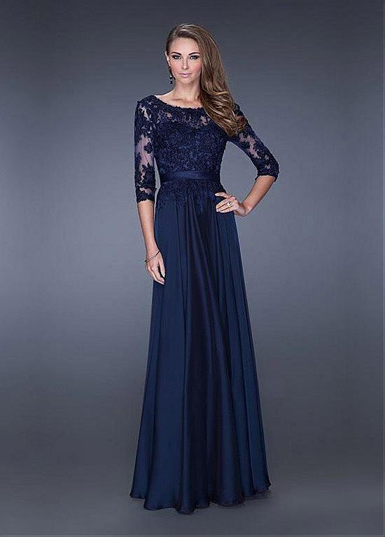 054086d47c5 Chic Tulle   Satin Chiffon Bateau Neckline Floor-length A-line Prom Dress