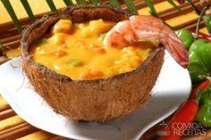 Receita de Bobó de camarão com gengibre em receitas de crustaceos, veja essa e outras receitas aqui!