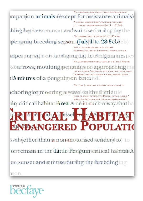 EXPERIMENTAL TYPOGRAPHY :: Endangered Populations