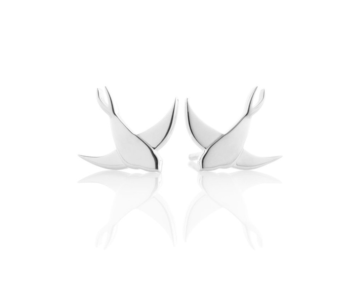 Jan Logan Bluebird silver earrings