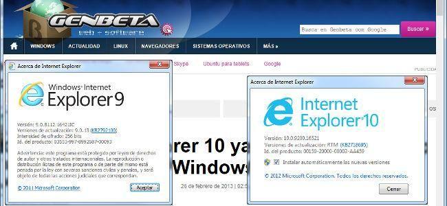 Internet Explorer 10 frente a Internet Explorer 9. Pruebas de rendimiento en Windows 7 http://www.genbeta.com/p/74661