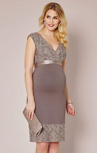 Twilight Lace Maternity Dress (Mocha) by Tiffany Rose