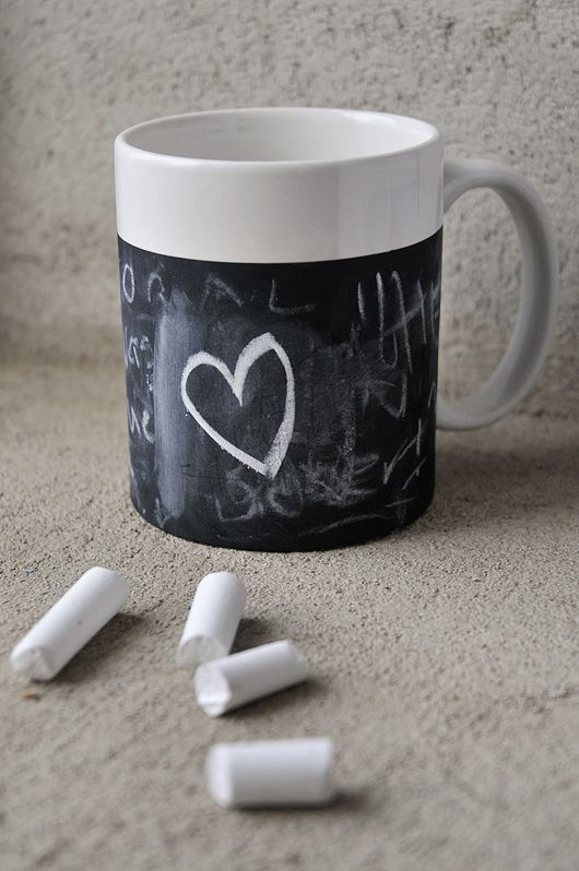 Mug with chalkboard paint